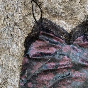 Zara velvet and lace camisole